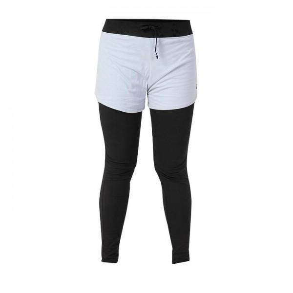 Deivee Layered Tights med Shorts - Svart/Grå