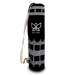 Deivee Black Printed Yoga Mat Bag